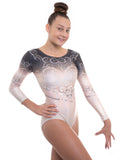 'Elegant' Black and Gold Long Sleeved Leotard