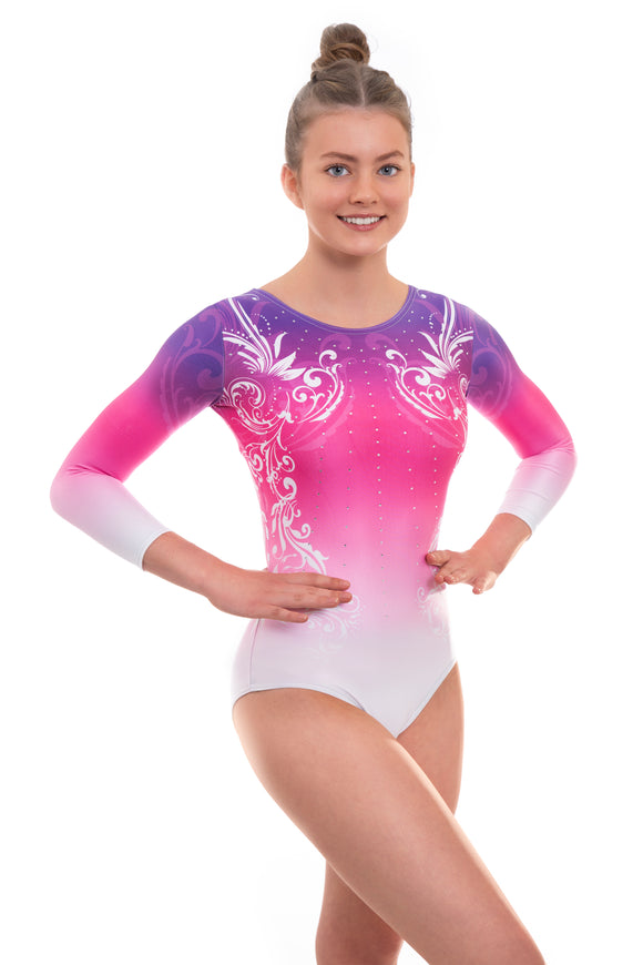 Fanfare Deluxe Long Sleeve Gymnastics Leotard