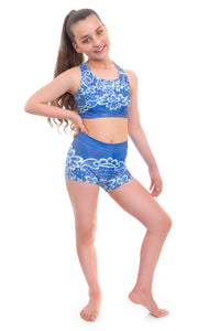 Flourish Crop Top and Shorts Activewear Set