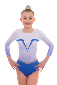 Force Blue Long Sleeved Gymnastics Leotard