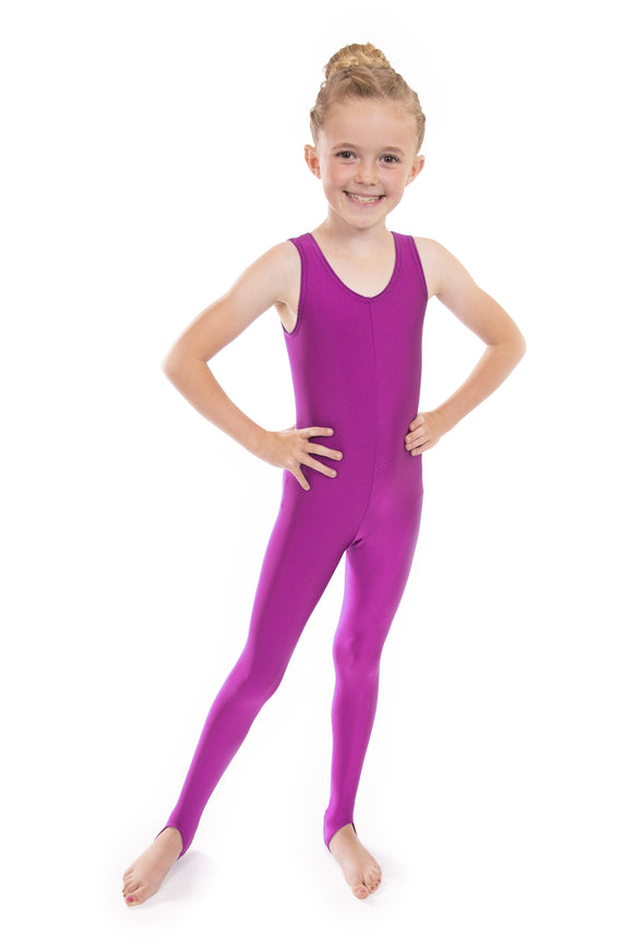Fuschia Pink Dance Short Sleeved Unitard Catsuit