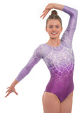 'Impulse' Purple Long Sleeved Gymnastics Leotard