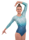 'Impulse' Turquoise Long Sleeved Gymnastics Leotard