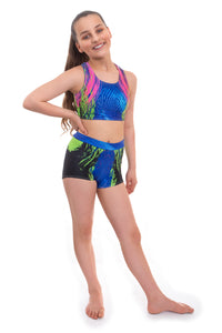 Kinectic Crop Top and Shorts Activewear Set