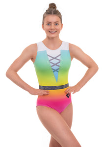 Parade Rainbow Ombre Sleeveless Gymnastics Leotard