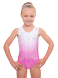 'Radiant' Pink Ombre Sleeveless Gymnastic Training Leotard