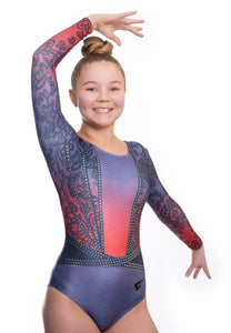 Phoenix Red Deluxe Long Sleeve Gymnastics Leotard