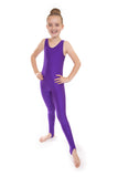 Purple Dance Short Sleeved Unitard Catsuit