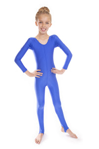 Royal Blue Dance Long Sleeved Unitard Catsuit
