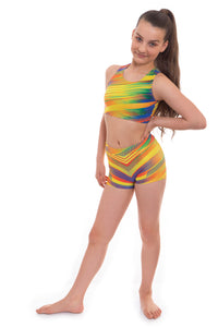 Samba Crop Top and Shorts Activewear Set