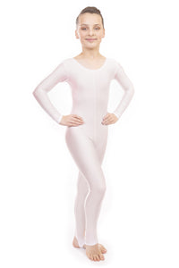 White Dance Long Sleeved Unitard Catsuit