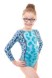 Wild Turquoise Long Sleeved Gymnastics Leotard