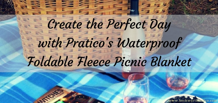 Create the Perfect Day with Pratico's Waterproof Foldable Fleece Picnic Blanket