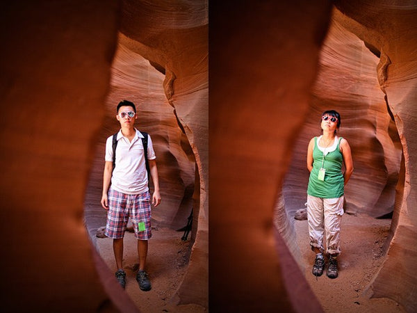 Esther and Jacob in Antelope Canyon