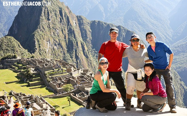 Team Info Cusco in Machu Picchu