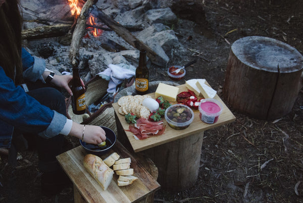 food by the campfire