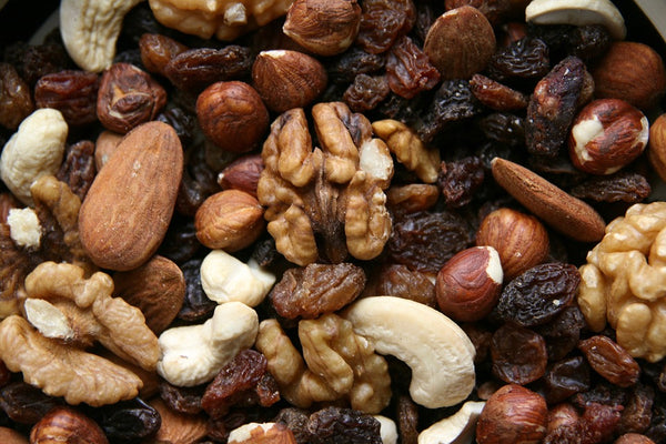trail mix of nuts, seeds, and dried fruits