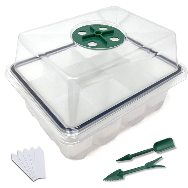 12-Cell Reusable Silicone Seedling Tray Kit - 2 Pack