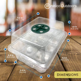 clear seeding tray kit dimensions