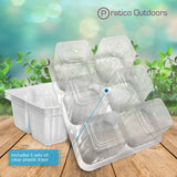 5 pack plastic plant trays