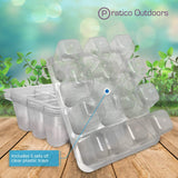 5 sets of clear plastic tray