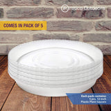 pack of 5 plastic pot saucer
