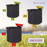 fabric grow pots dimensions