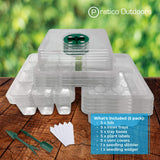 seedling starter tray kit 5 pack inclusions