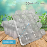 10 sets of clear plastic tray