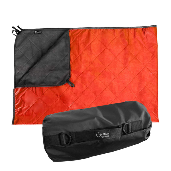 Outdoor Blanket - Grey / Orange, Large 58x84 inches