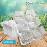 10 pack clear plastic trays