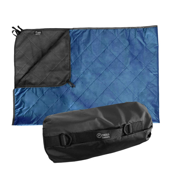 Outdoor Blanket - Grey / Navy Blue, Large 58x84 inches