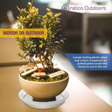 plastic plant tray for indoor and outdoor use