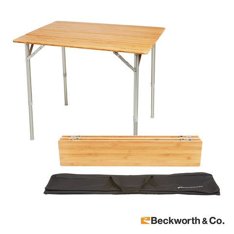 SHIPPING COST ONLY - SMARTFLIP BAMBOO PORTABLE OUTDOOR PICNIC FOLDING TABLE WITH ADJUSTABLE HEIGHT & CARRY BAG - STANDARD
