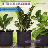 black nonwoven fabric pots for better heat management