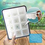 silicone seedling tray drain holes