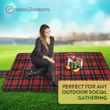 Extra Large Fleece Picnic Blanket - Red