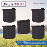 5 pack fabric pots