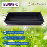 seed starter tray with drain holes dimensions