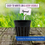 plastic plant labels white easy to write