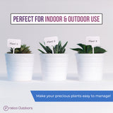 plastic plant labels white good for indoor and outdoor use