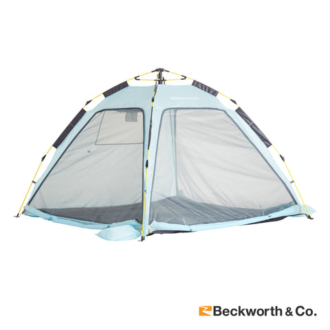 QuickFlex Multipurpose Beach and Outdoor Tent - Large 4-Person Tent, Light Blue