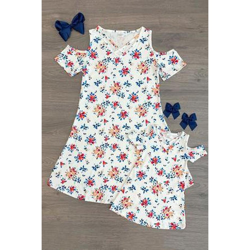 Mommy & Me Open Shoulder Floral Dress