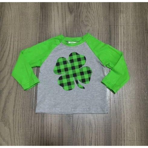 Plaid Shamrock Top