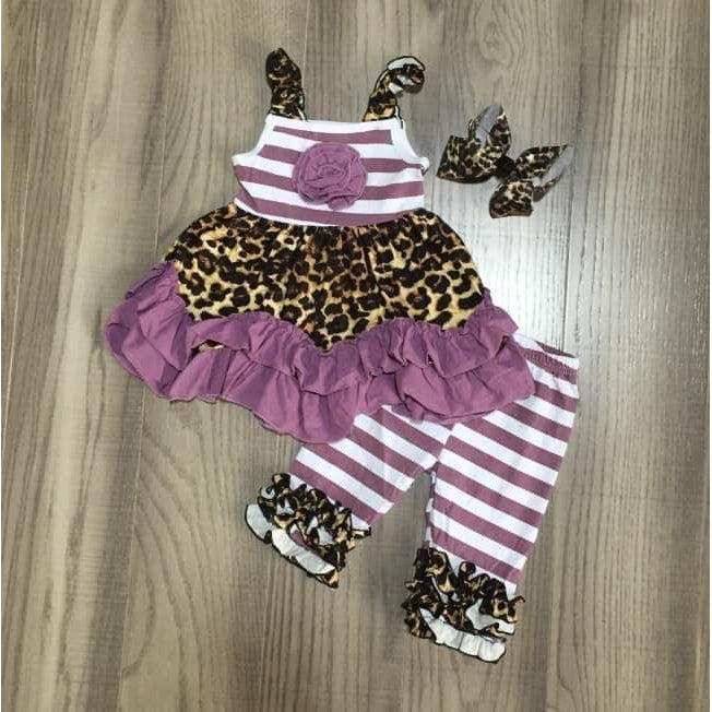 Purple and Cheetah Tank Outfit