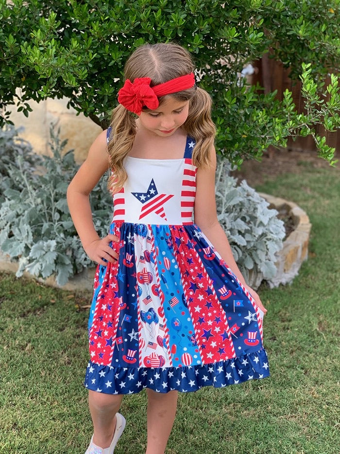 Stars And Stripes Twirl Dress