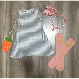 Grey Sleeveless Easter Dress
