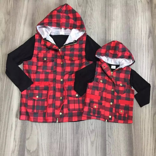 Buffalo Plaid Mommy and Me Vest
