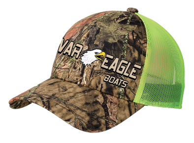 War Eagle Structured Camouflage Cap with Neon Mesh Back - Mossy Oak