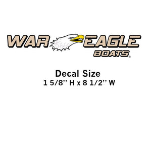 War Eagle Boats Decal